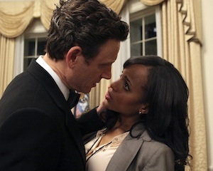actors tony goldwyn and kerry washington in abc's scandal, created by shonda rhimes